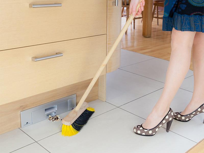 KickVac Kitchen Floor Sweep