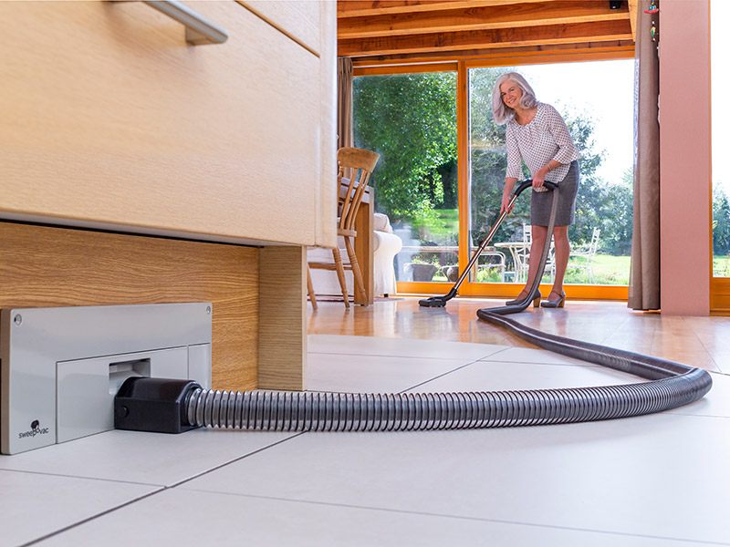 Vacuuming with Hose